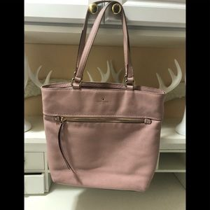 Kate Spade pink soft later good condition bag